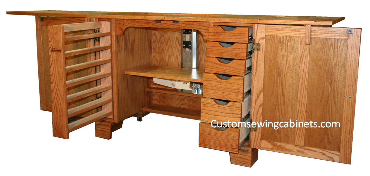 Sewing Furniture and Sewing Cabinets custom made : quilting tables and cabinets - Adamdwight.com
